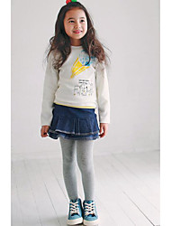 Girl's Casual/Daily Print TeePolyester Winter / Spring / Fall White