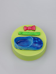 Baby lovely shose shape fondant cake mold for baby cake chocolate silicone mold