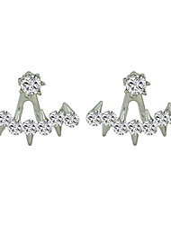 Shiny Imitation Crystal Small Stud Earrings