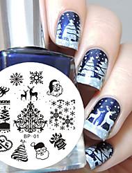 родился довольно рождества искусства ногтя штамповки пластины изображения инструмент шаблон для ногтей