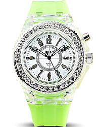 Men's Cool Quartz Casual Watch Silicone Belt LED Luminous Round Alloy Dial Watch Unique Watch Classic Business Watch