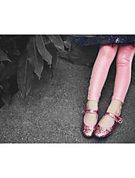 Mädchen Leggings-Lässig/Alltäglich einfarbig Baumwolle Herbst Rosa / Weiß