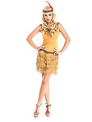 Costumes Plus de costumes Halloween Jaune Couleur Pleine Térylène Robe / Plus d'accessoires