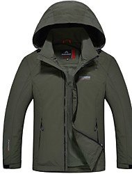 Hiking Softshell Jacket Men's Waterproof / Breathable / Thermal / Warm / Windproof / Wearable Winter Tactel Army Green