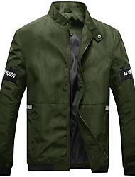 Мужской Хлопок / Полиэстер Куртка На каждый день / Для офиса / Для торжеств и мероприятий / Для занятий спортом / Большие размеры,