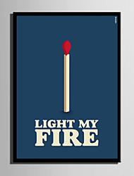 E-HOME® Framed Canvas Art, Matchstick Letter Series Framed Canvas Print One Pcs