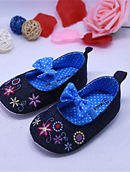 Girl's Flats Summer Ballerina / Round Toe Leatherette Casual Flat Heel Flower Blue / Pink Others