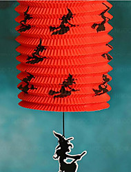 Halloween Items Jack Skeleton Portable Colorful Pumpkin Folding Paper Lantern Lamp Series  Color Random 5*15