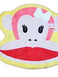 lábio vermelho esteiras almofada carro babycoco boca grande tapete de macaco tapete de porta