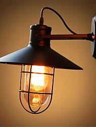 parede americano ferro bar sotão retro cabeceira quarto industrial luz ao ar livre lâmpada de espelho de vidro