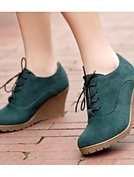 Women's Boots Spring / Summer / Fall / Winter Closed Toe PU Outdoor Wedge Heel Lace-up Others