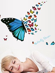 Wall Stickers Wall Decals Butterflies Feature Removable Washable PVC