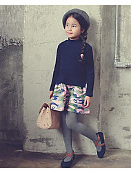 Girl's Going out Color Block Dress / SkirtCotton Spring / Fall Blue