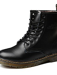 Men's Boots Fall / Winter Fashion Boots / Combat Boots Casual Flat Heel Lace-up Black / Brown Others