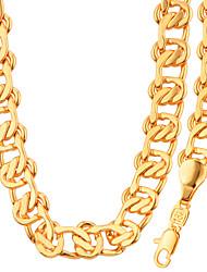Conjunto de Jóias Colar / Pulseira Moda Pedaço de Platina Chapeado Dourado Dourado Branco Colares Bracelete ParaCasamento Festa Halloween