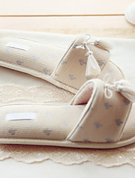 Women's Slippers & Flip-Flops Spring Summer Comfort Cotton Casual Flat Heel Others Champagne Others