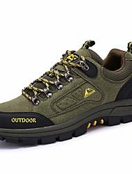 Зеленый / Хаки / Тёмно-синий-Мужской-Для прогулок / Для занятий спортом-Замша-На плоской подошве-На плокой подошве-Спортивная обувь