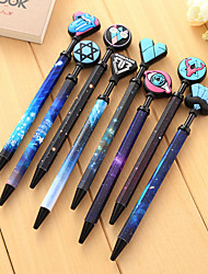Starry Sky Rubber Black Ink Gel Pen