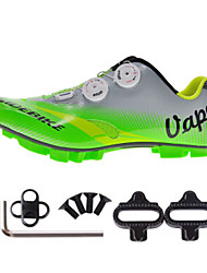 Cycling Shoes Unisex Outdoor / Mountain Bike Sneakers Damping / Cushioning Green / Gray-sidebike