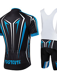 fastcute Cycling Jersey with Bib Shorts Women's Men's Kid's Unisex Short Sleeve BikeBib Shorts Jersey Bib Tights Sweatshirt Clothing