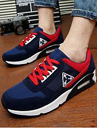 Hombre-Tacón Plano-Confort-Zapatillas de deporte-Casual-Látex-Negro / Azul