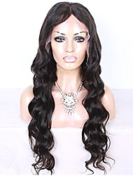 Peruvian Human Virgin Hair  Lace Front Wig Natural Color Long  Body  Wave Lace Wigs