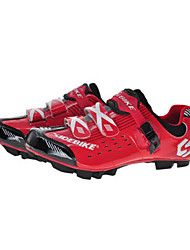 Cycling Shoes Unisex Outdoor / Mountain Bike Sneakers Damping / Cushioning Red / Black-sidebike