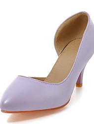 Women's Heels Spring / Summer / Fall Comfort Wedding Dress Cone Heel Hollow-outBlue / Pink / Purple /
