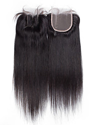 8inch to 20inch Black Full Lace Straight Human Hair Closure Medium Brown Swiss Lace about 30g gram Average Cap Size