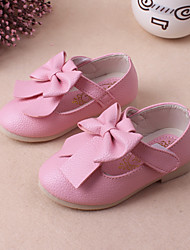 Flats Spring Fall Light Up Shoes PU Casual Flat Heel Bowknot Pink Red Other