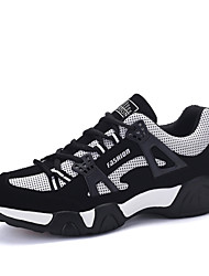 Men's Athletic Shoes Tulle Casual Flat Heel Lace-up Blue / Black and Red / Black and White Track & Field EU39-43