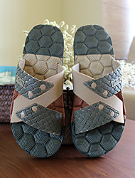 Men's Slippers & Flip-Flops Summer Slingback Rubber Casual Flat Heel Others Blue Green Others