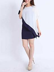 Women's Casual/Daily Dress Short Sleeve White Summer