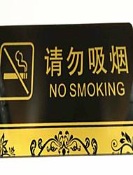 detectar Não fumadores Não fumar sinalização / parede de acrílico adesivos não fumar / não há sinais de fumar em