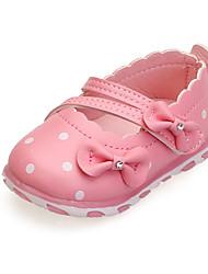 Mädchen-Flache Schuhe-Lässig-PU-Flacher AbsatzRosa Rot Weiß