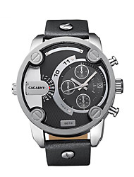CAGARNY Men's Watch / Fashion Watch / Large Dial Watch / Japan Quartz Calendar / Casual Watch / Cool Watch