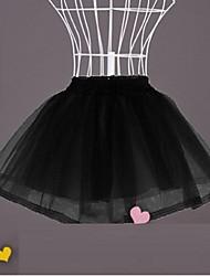 Déshabillés Robe de soirée longue Longueur courte 2 Polyester Blanc Noir