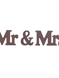 Wooden MR & MRS Wood Letter Free Standing Wedding Party Home Decor Sign