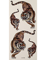 1 Tatouages Autocollants Séries animales tigers flash Tattoo Tatouages ​​temporaires