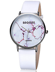 Women's Fashion Watch Wrist watch Casual Watch / Quartz Leather Band Casual Cool Black White Grey Khaki