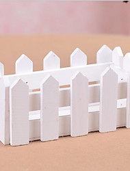 Manufacturers Selling Wooden 16Cm Long White Wooden Fence Wooden Flower Small Square