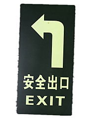 Pvc Luminous Affixed Safe Exit Reminder Sign Square A Pack Of Five To Buy A Packet Of A