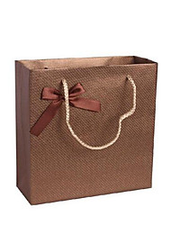 Four 30.5CMX27CMX12CM Brown Spiral Pattern Gift Paper Bags Per Pack