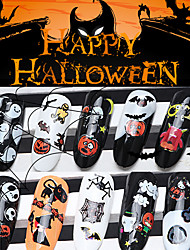 12pcs/lot  Halloween Nail Stickers Decal Art Tips AllHallow'sDay Decoration Ghost Bat Skull