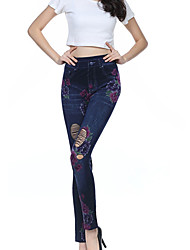 Women Print / Shredded / Denim LeggingCotton / Spandex