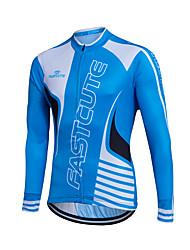 Sports Cycling Jersey Men's Long Sleeve Thermal / Warm / Windproof Bike Tops Fleece Classic Winter Cycling/Bike