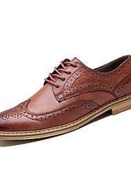 Femme-Décontracté-Marron / Gris-Talon Plat-Confort-Sneakers-Polyuréthane