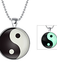 Cremation Jewelry Magical Glow in The Dark 925 Sterling Silver Luminous Simple Pendant Necklace