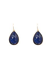 Fashion Women Glitter Resin Stone Set Water Drop Earrings