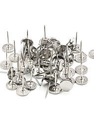 Dearroad Swivel Stainless Steel Anti-Theft EAS Nail Security Hard Tag Pin Standard Flat Metal Pin 50pcs/Lot